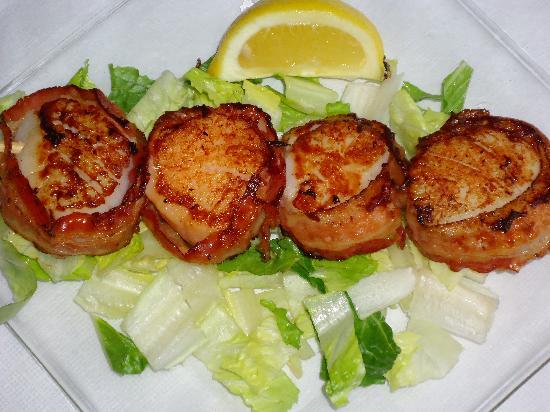 Marinated Scallops Wrapped In Bacon Recipe — Dishmaps