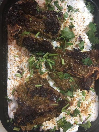 Lamb Chops Over Rice (3pc)