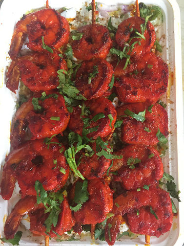 Tandoori Shrimp Over Rice