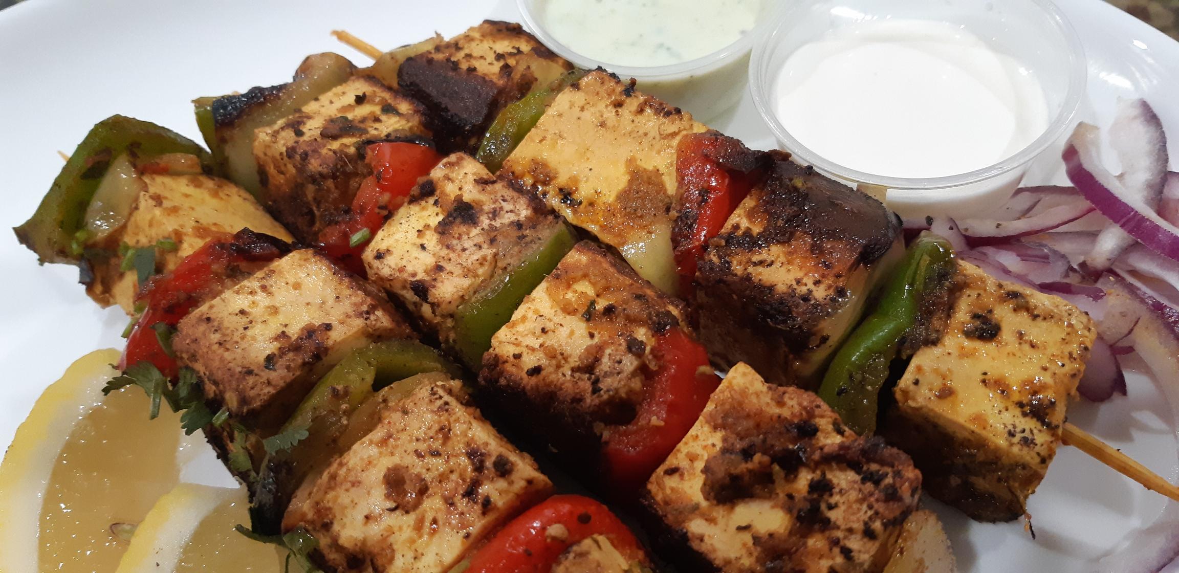 Paneer Tikka Kebab (vegetarian)