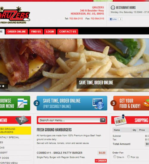 Burger Wings Restaurant Template
